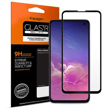Spigen Glass FC HD, black - Galaxy S10e
