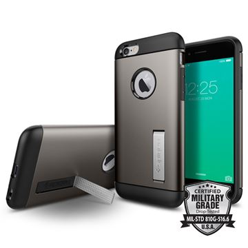 Spigen Slim Armor, gunmetal - iPhone 6/6s