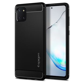 Spigen Rugged Armor, black - Galaxy Note10 Lite