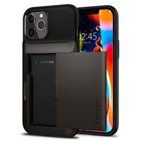 Spigen Slim Armor Wallet, gunmetal - iPhone 12/Pro