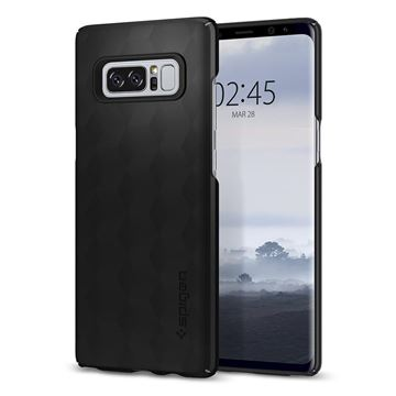 Spigen Thin Fit, matte black - Galaxy Note 8