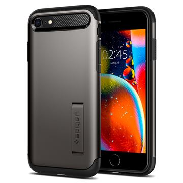Spigen Slim Armor, gunmetal - iPhone SE/8/7