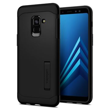 Spigen Slim Armor, black - Galaxy A8(2018)