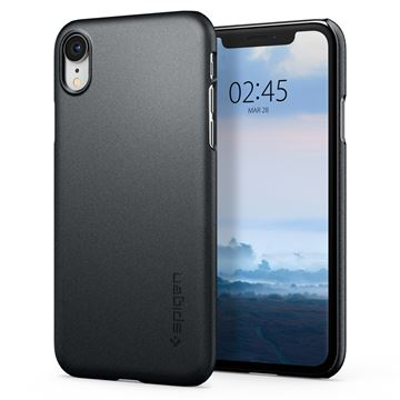 Spigen Thin Fit, graphite gray - iPhone XR
