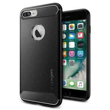 Spigen Rugged Armor, black - iPhone 8+/7+