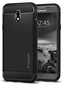 Spigen Rugged Armor, black - Galaxy J3(2017)