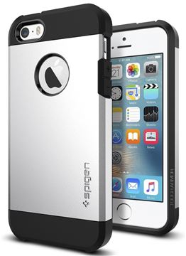 Spigen Tough Armor, satin silver - iPhone SE/5s/5