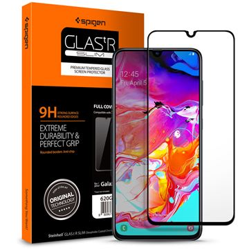 Spigen Glass FC, black - Galaxy A70