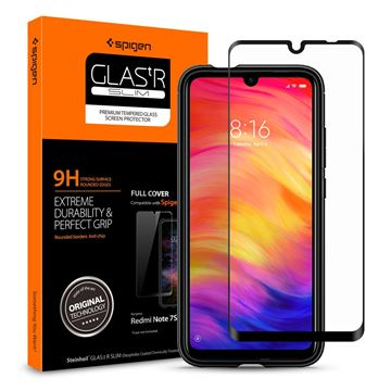 Spigen Glass FC, black - Xiaomi Redmi Note 7