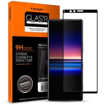 Spigen Glas.tR Curved, black - Sony Xperia 1