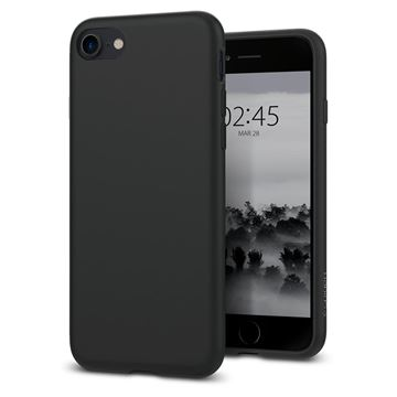 Spigen Liquid Crystal, matte black - iPhone 8/7