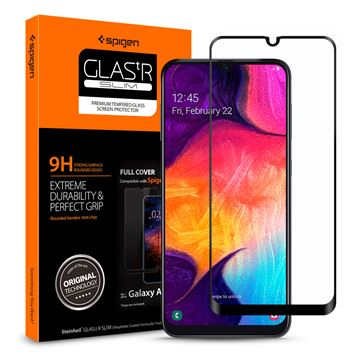 Spigen Glass FC HD, black - Galaxy A50