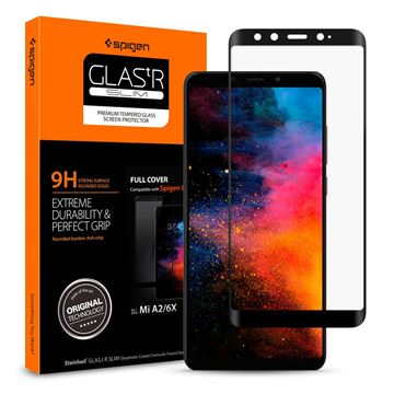 Spigen Glass FC HD, black - Xiaomi Mi A2/6X