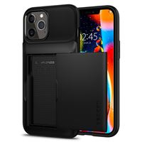 Spigen Slim Armor Wallet, black - iPhone 12/Pro