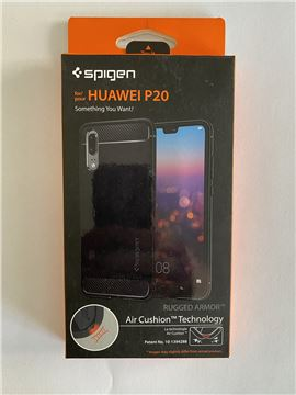 Spigen Rugged Armor, black - Huawei P20