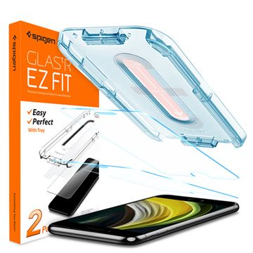 Spigen Glas.tR EZ Fit Slim 2 Pack - iPhone 8/7