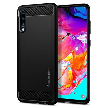 Spigen Rugged Armor, black - Galaxy A70