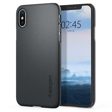 Spigen Thin Fit, graphite gray - iPhone XS/X