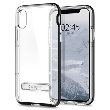 Spigen Crystal Hybrid, black - iPhone X
