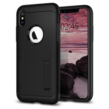 Spigen Slim Armor, black - iPhone XS/X