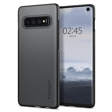 Spigen Thin Fit, gray - Galaxy S10