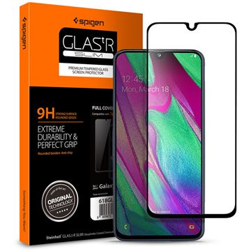 Spigen Glass FC, black - Galaxy A40