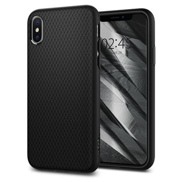 Spigen Liquid Air, black - iPhone XS/X