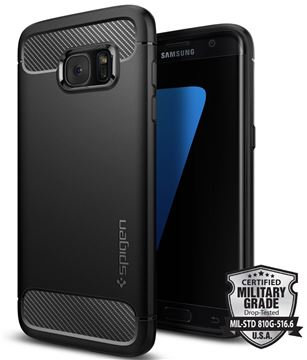Spigen Rugged Armor, black - Galaxy S7 Edge
