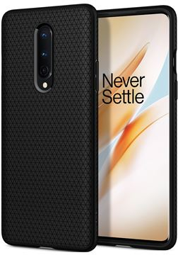 Spigen Liquid Air, black - OnePlus 8