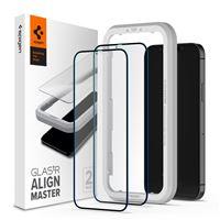 Spigen Glas tR ALM FC Black, 2P - iPhone 12/Pro