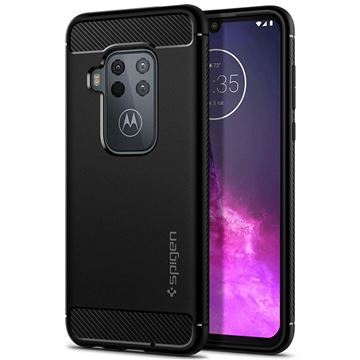 Spigen Rugged Armor, black - Motorola One Zoom