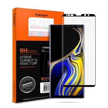 Spigen GLAS.tR Curved HD, black - Galaxy Note 9