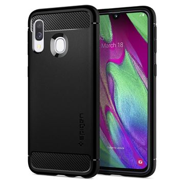 Spigen Rugged Armor, black - Galaxy A40