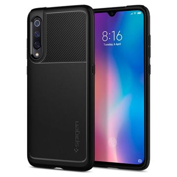 Spigen Rugged Armor, black - Xiaomi Mi 9