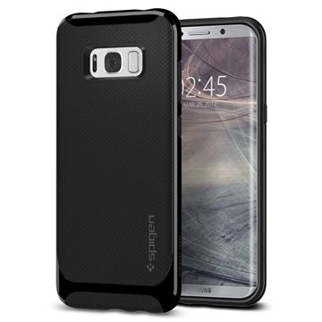 Spigen Neo Hybrid, shiny black - Galaxy S8+
