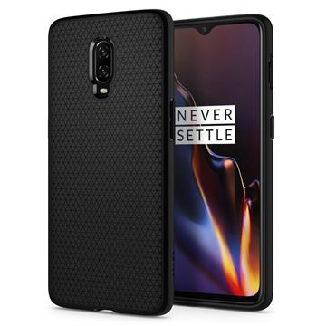 Spigen Liquid Air, matte black - OnePlus 6T