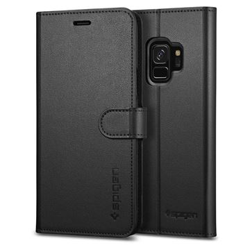 Spigen Wallet S, black - Galaxy S9