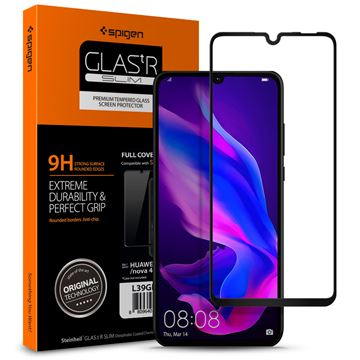 Spigen Glass FC HD, black - Huawei P30 Lite