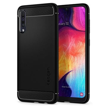 Spigen Rugged Armor, black - Galaxy A50/A30s