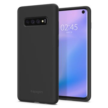 Spigen Silicone Fit, black - Galaxy S10