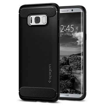 Spigen Rugged Armor, black - Galaxy S8+