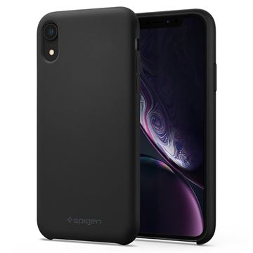 Spigen Silicone Fit, black - iPhone XR
