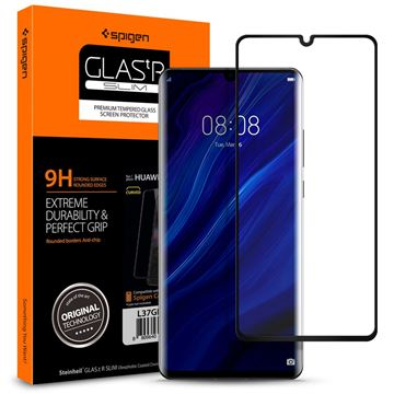 Spigen Glas.tR Curved, black - Huawei P30 Pro