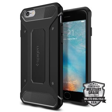 Spigen Rugged Armor, black - iPhone 6/6s