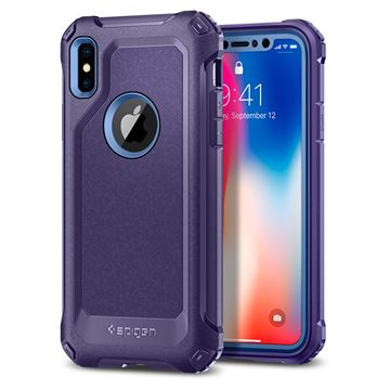 Spigen Pro Guard, purple - iPhone X