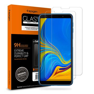 Spigen Glass GLAS.tR SLIM HD - Galaxy A7 2018