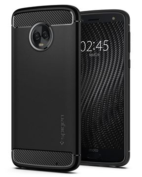 Spigen Rugged Armor, black - Moto G6 Plus