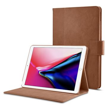 Spigen Stand Folio case, brown - iPad 9.7