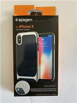 Spigen Neo Hybrid, silver - iPhone X