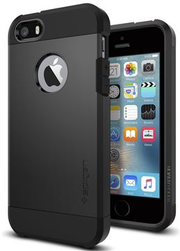 Spigen Tough Armor, black - iPhone SE/5s/5